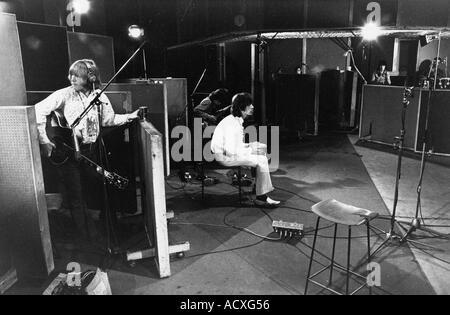 ROLLING STONES recording soundtrack du film One Plus One Juin 1968 Banque D'Images