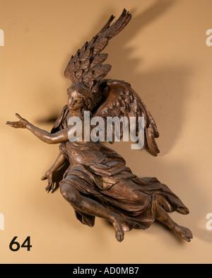 Angel. Limewood. Austrian, milieu du xviiie siècle. Banque D'Images
