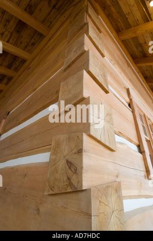 Le cèdre et le sapin utilisé dans la construction de maison Banque D'Images