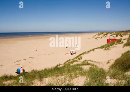 Pays de Galles Carmarthenshire Pembrey Country Park Cefn Sidan Beach Banque D'Images