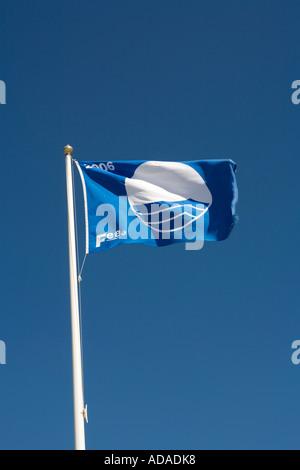 Pays de Galles Carmarthenshire Pembrey Country Park Cefn Sidan plage drapeau bleu de l'eau propre Banque D'Images
