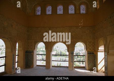 Vue sur l'Alhambra et Grenade andalousie andalousie forteresse Alcazaba España Espagne Iberia Europe Banque D'Images