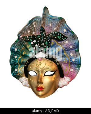 Masque de carnaval festival vénitien italien Italie masquerade déguisement voile pare-soleil souvenir d'esprit de Banque D'Images