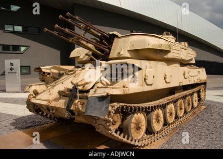 ZSU -23- 4 'Shilka' 23 mm automoteur canon anti-aérien à l'extérieur de l'Imperial War Museum North