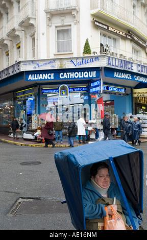 Le centre de Lourdes, France Banque D'Images