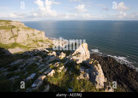 Pwlldu Head près de Southgate la Péninsule de Gower Swansea Wales UK
