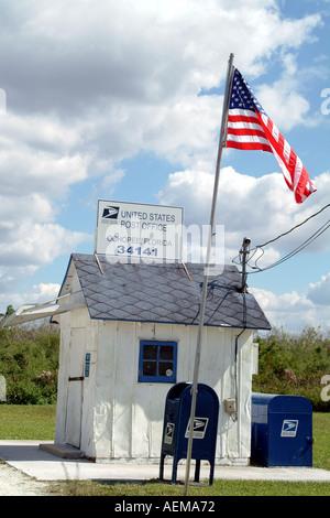 US Mail Plus ancien bureau de poste de USA situé sur le Tamiami Trail à Ochopee dans les Everglades de Floride région Banque D'Images