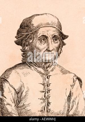 Jérôme Bosch, vers 1450 à 1516. L'artiste néerlandais. Banque D'Images