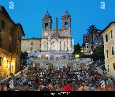 Géographie / voyage, Italie, Rome, Espagnol escaliers, église Saint Trinita di Monti Monti di Santa Trinita' et Banque D'Images