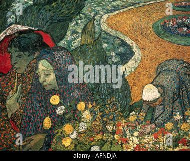 """'Fine Arts, Vincent van Gogh, (1853 - 1890), peinture, 'Mémoires du jardin à Etten ou dames d'Arles"""", novembre 1888, o Banque D'Images"""