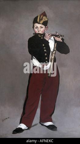 """'Fine Arts, Manet, Édouard, (1832 - 1883), peinture, """"Le fifre"""", ('Le fifre'), 1866, huile sur toile, Musée d'Orsay, Banque D'Images"""