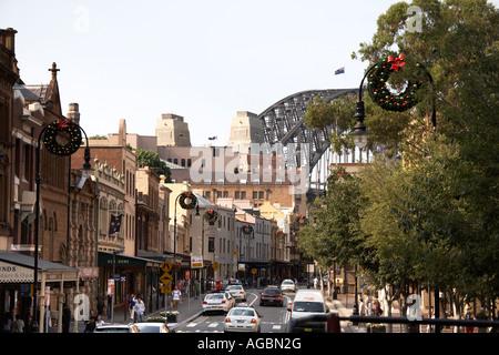 George St dans les roches Sydney NSW Australie Nouvelle Galles du Sud Banque D'Images
