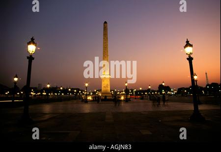 Paris Place de la Concorde Banque D'Images