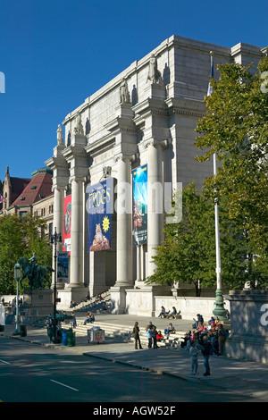 Musée d'Histoire Naturelle entrée extérieur principal New York City Banque D'Images
