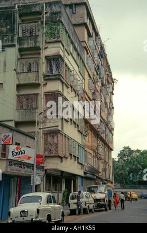 Vieux tennement immobilier Calcutta Inde Bengale dans02 33 Banque D'Images