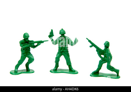 Petits soldats en plastique vert Banque D'Images