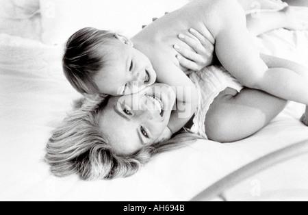 Maman bébé 017 Banque D'Images