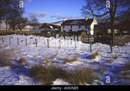 Glenquey ferme en hiver, Glen Devon, Perth et Kinross, Scotland, UK. Banque D'Images
