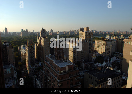 Vue sur Central Park et l'Upper East Side à New York dans l'ouest Banque D'Images