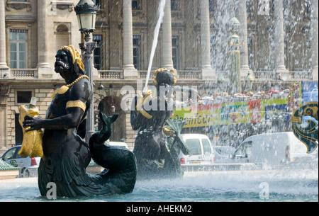 Paris Place de la concorde fontaine Banque D'Images