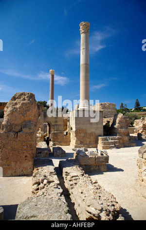 Thermes d'Antonin Ruines Carthage Tunisie Banque D'Images