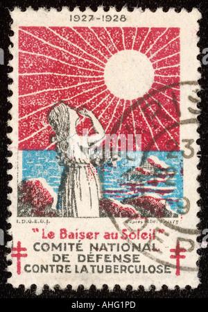 0042849ef8 Timbre-poste français la promotion du soleil pour lutter contre la ...