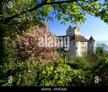 DE - BADE-WURTEMBERG: Château de Meersburg, au-dessus du lac de Constance (Bodensee) Banque D'Images