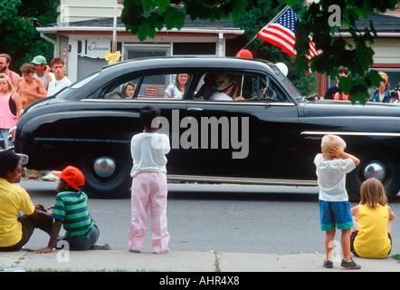Voiture Classique Indépendance Day Parade Banque D'Images