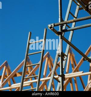 En construction de toit Banque D'Images