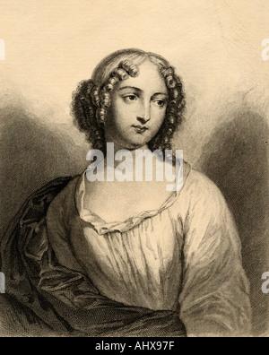 Louise Françoise de la Baume Le Blanc de la Vallière, 1644 - 1710. Maîtresse de Louis XIV. Banque D'Images