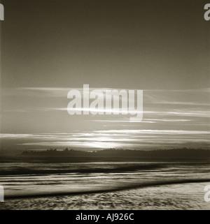 Long Beach en Colombie-Britannique après le coucher du soleil d'août 2003 Banque D'Images