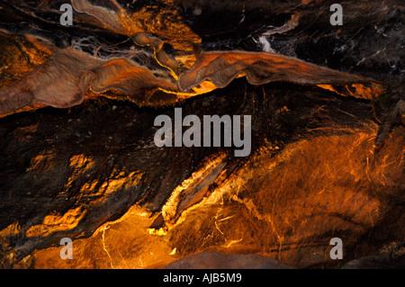 Des formations rocheuses, des grottes de Cheddar, England, UK. Banque D'Images