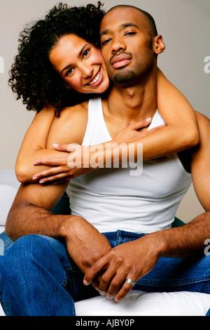 Portrait d'un couple africain Banque D'Images