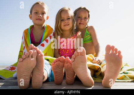 Les filles en vacances Banque D'Images