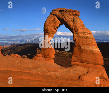 USA - UTAH : Delicate Arch à Arches National Park Banque D'Images