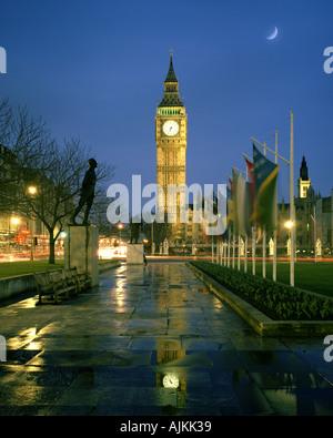 GB - Londres: la Place du Parlement et Big Ben (Elizabeth Tower) Banque D'Images
