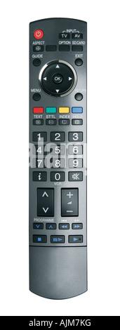 Télécommande pour la télévision numérique interactive isolated on white with clipping path Banque D'Images