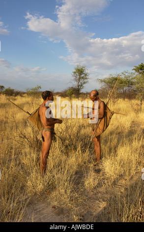 La famille San Bushmen San Banque D'Images