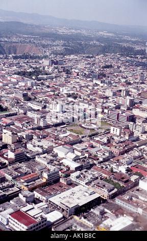 Vue aérienne de la ville de Guatemala
