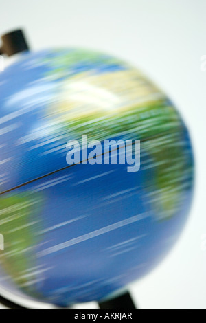 Spinning globe Banque D'Images