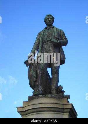 Statue de David Livingstone à Cathedral Square Glasgow Ecosse Banque D'Images