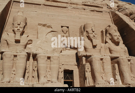 Grand Temple de Ramsès II, Abou Simbel Egypte Banque D'Images