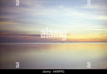 Coucher du soleil à Tahiti, Polynésie Française
