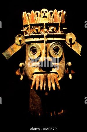 Pueblan Dieu de l'eau dans la région de Chapultepec Musée d'anthropologie de Mexico Banque D'Images