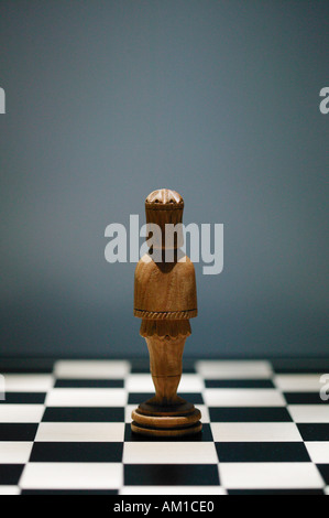 Pièce d'échecs échiquier sur l'arrière du roi