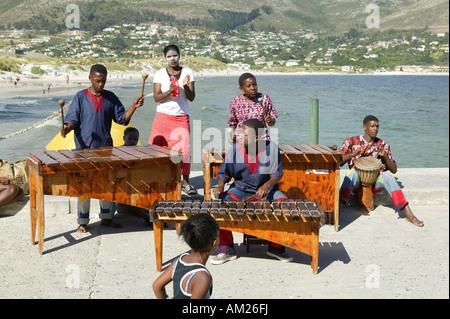 Des musiciens de rue, Marimba Band, Hout Bay, Cape Town, West Cape, Afrique du Sud