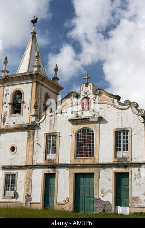 L'église à l'abandon sur l'île de Faial, dans les Açores. Banque D'Images