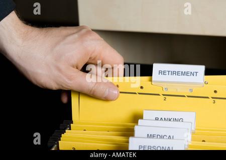 Une cueillette à la main d'un fichier Banque D'Images