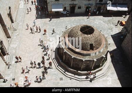 Grande Fontaine d'Onofrio tirées d'anciens remparts, Dubrovnik, Croatie, la côte dalmate