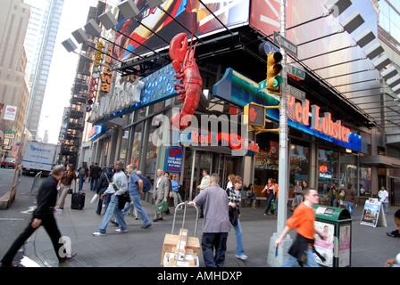 Le Times Square de la chaîne de restaurants de homard Banque D'Images